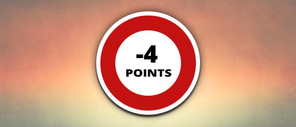Infractions Code de la Route avec perte de 4 points