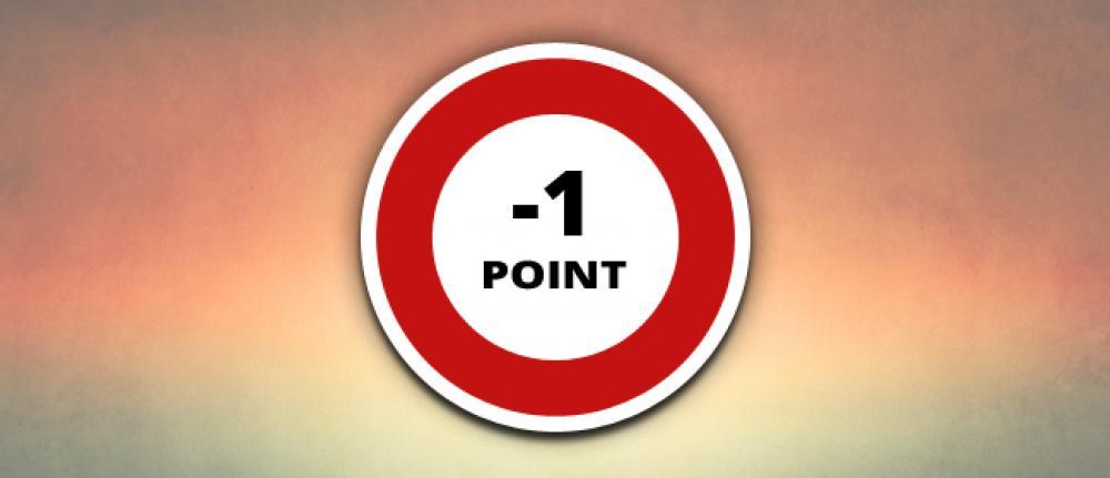 Infractions Code de la Route avec perte d'1 point
