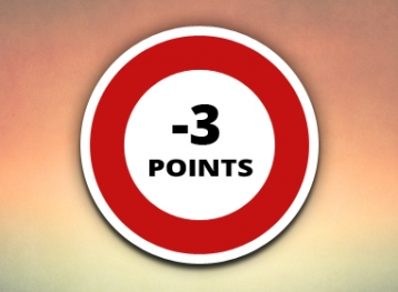 Infractions Code de la Route avec perte de 3 points