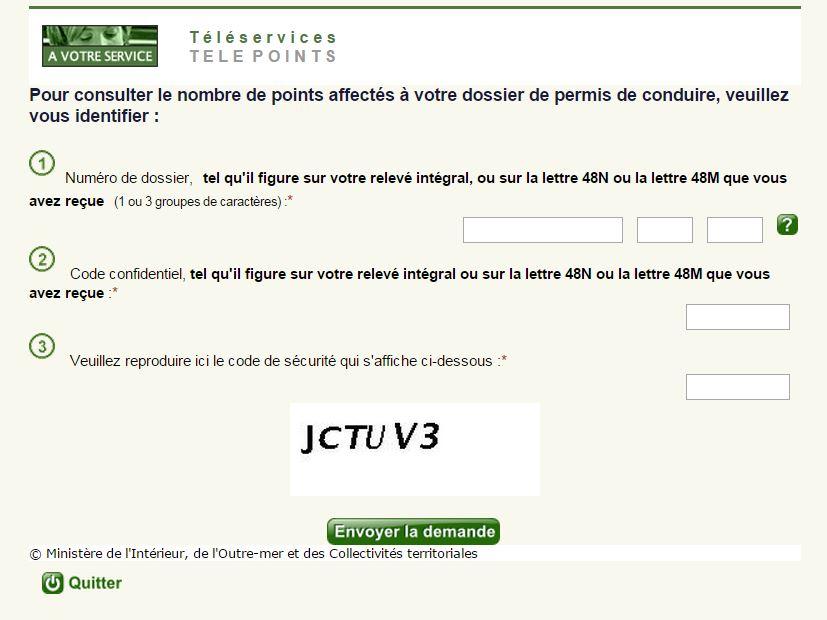Page d'accueil du site Télépoints